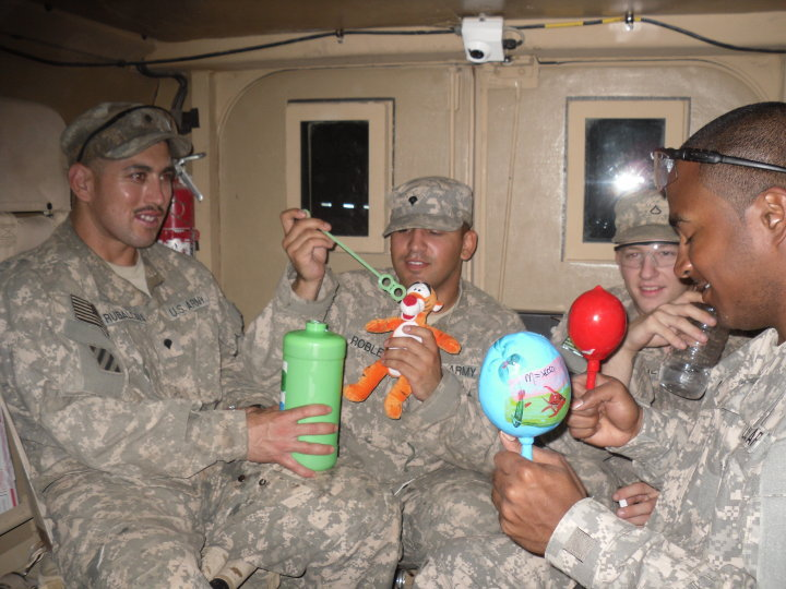 Bubbles and Tigger bring smiles to Iraq ...